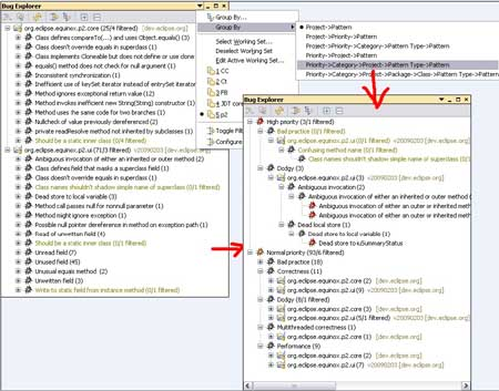 Findbugs Code Analysis Eclipse Plugin Category Definition